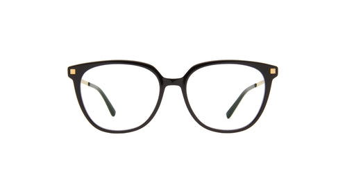 Mykita - Milla C6-Black/Glossygold/Clear Square Unisex Eyeglasses - 51mm