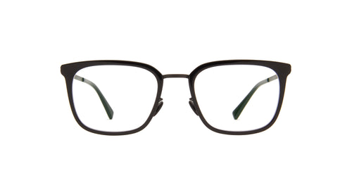 Mykita - Hagen A6-Black/Black/Clear Rectangle Unisex Eyeglasses - 50mm