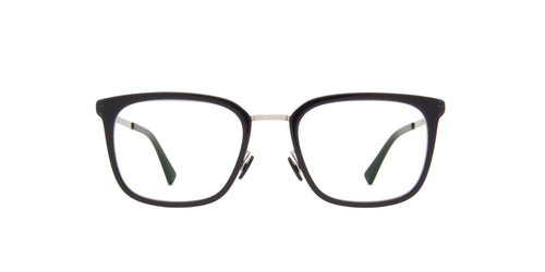 Mykita - Hagen A43-Shinysilver/Dark Rectangle Unisex Eyeglasses - 50mm