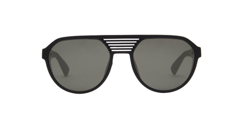Mykita - Peak Pitch Black Shield Men Sunglasses - 51mm