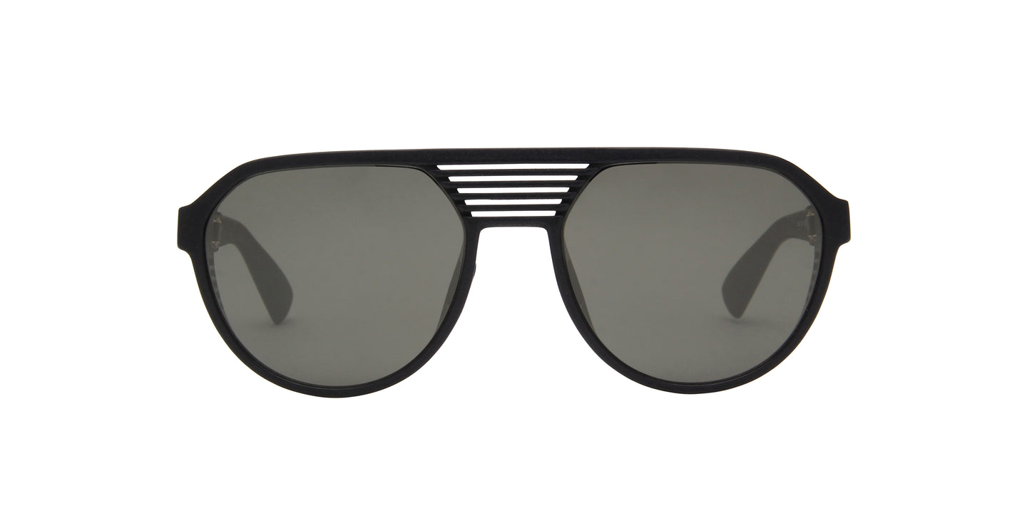 Mykita - Peak Pitch Black/Gunmetal Flash Shield Men Sunglasses - 51mm