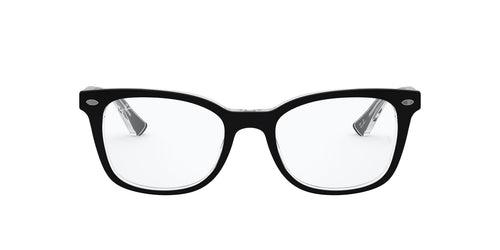 Ray Ban Rx - RX5285 Top Black on Transparent Square Unisex Eyeglasses - 53mm