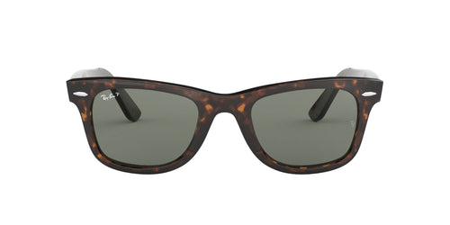 Ray Ban - Original Wayfarer Tortoise/Green Polarized Unisex Sunglasses - 50mm