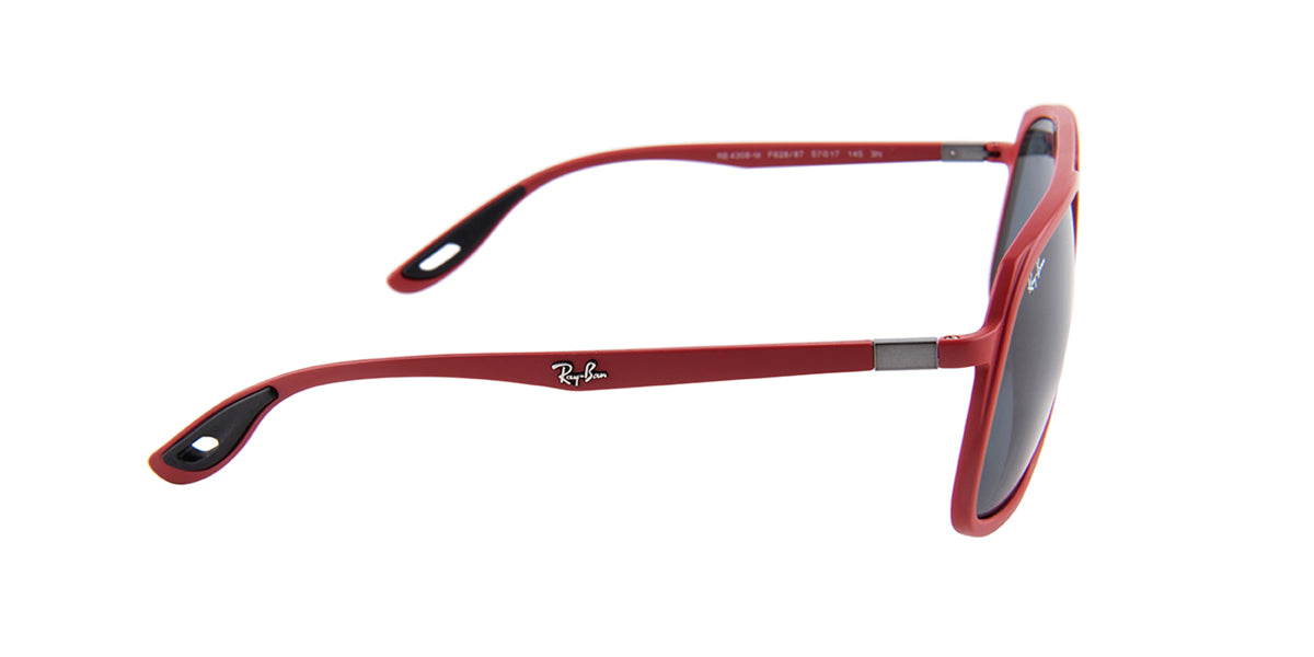 Ray Ban - RB4308M  Red/Gray Square Men Sunglasses - 58mm