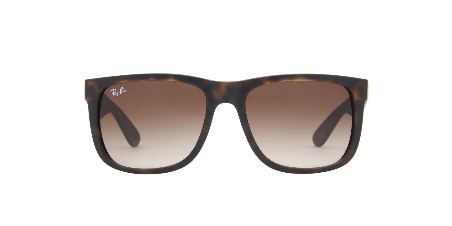 Ray Ban - Justin Tortoise Rectangular Unisex Sunglasses - 54mm