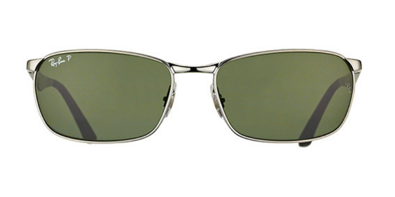 ea9d1aa8bea Ray Ban RB 3534 004 58 Gunmetal   Green Polarized Sunglasses - 59mm ...