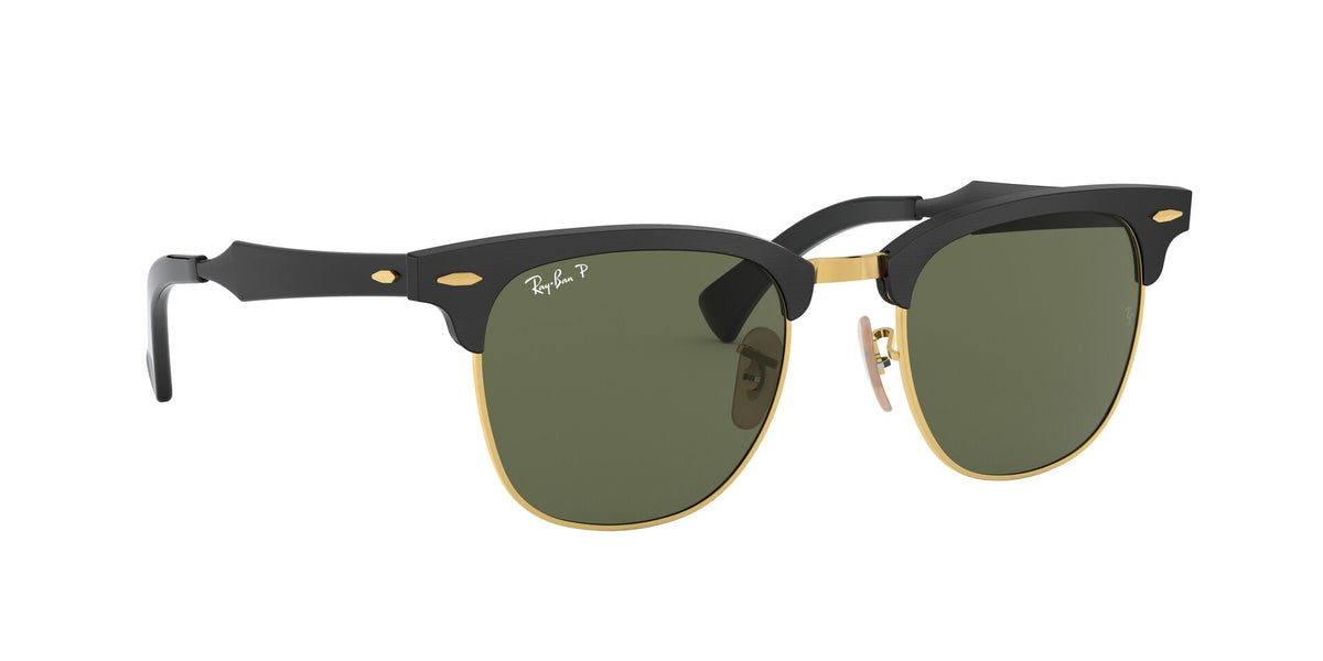 Ray Ban - RB3507 Black/Green Polarized Semi-Rimless Unisex Sunglasses - 51mm