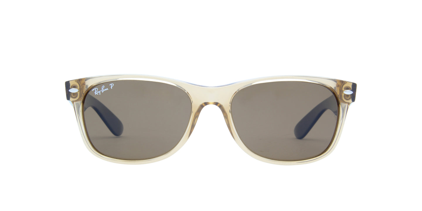Ray Ban - New Wayfarer Yellow/Brown Polarized Unisex Sunglasses - 55mm