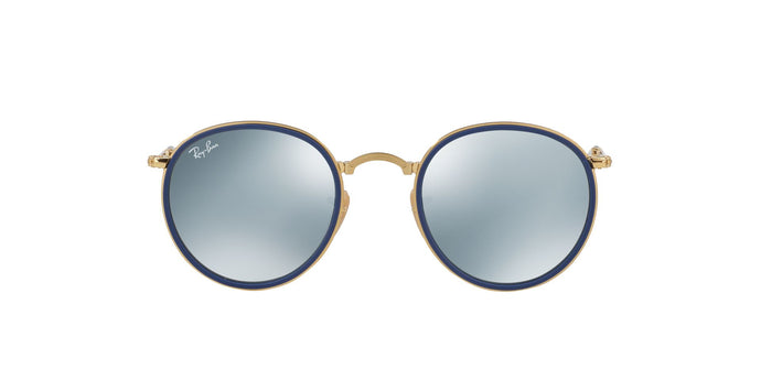 Ray Ban - RB3517 Gold/Silver Mirror Oval Women Sunglasses - 51mm