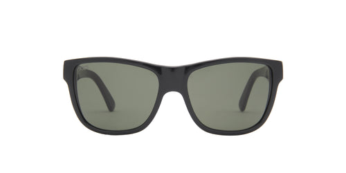 Tod's - TO106 Black/Green Rectangular Unisex Sunglasses - 55mm