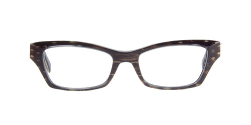 Roberto Cavalli - Soneva 758 Black/Gold Rectangular Women Eyeglasses - 52mm