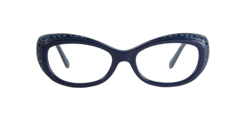 Roberto Cavalli - Remire 780 Blue Rectangular Women Eyeglasses - 53mm