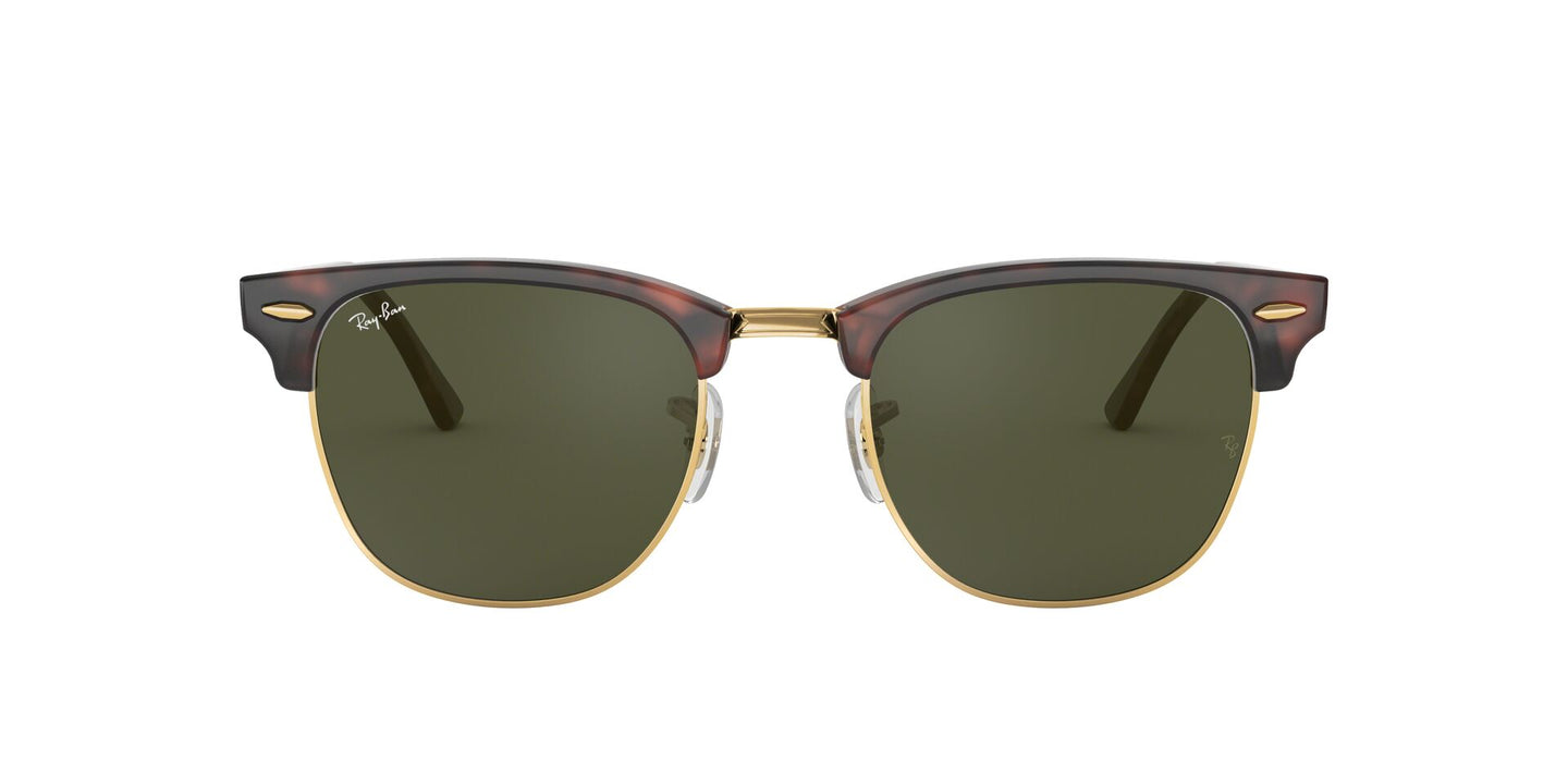 Ray Ban - Clubmaster Tortoise/Green Oval Unisex Sunglasses - 49mm