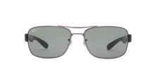 Ray Ban - RB3522 Gray Rectangular Men Sunglasses - 61mm