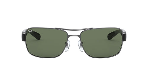 Ray Ban - RB3522 Gray Rectangular Men Sunglasses - 64mm