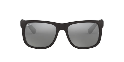 Ray Ban - Justin Black Rectangular Unisex Sunglasses - 54mm