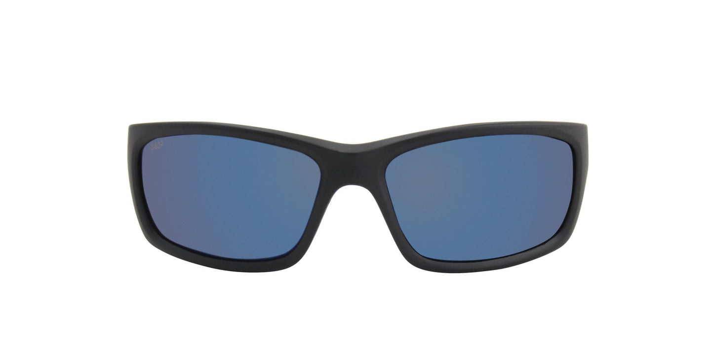 Costa Del Mar - Jose Black/Blue Mirror Polarized Wrap Men Sunglasses - 62mm