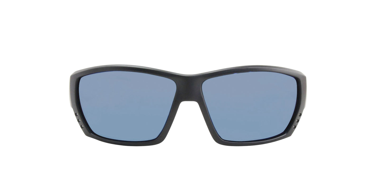 Costa Del Mar - Tuna Alley Black/Blue Polarized Wrap Men Sunglasses - 62mm
