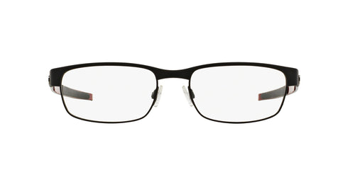 Oakley - Carbon Plate Matte Black/Clear Rectangular Men Eyeglasses - 53mm