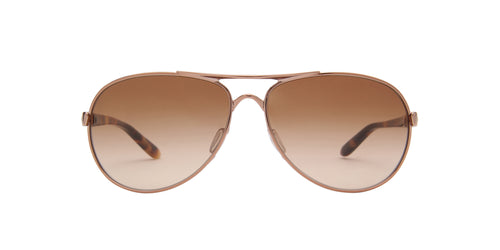 Oakley - Feedback Rose Gold/Brown Gradient Aviator Women Sunglasses - 59mm