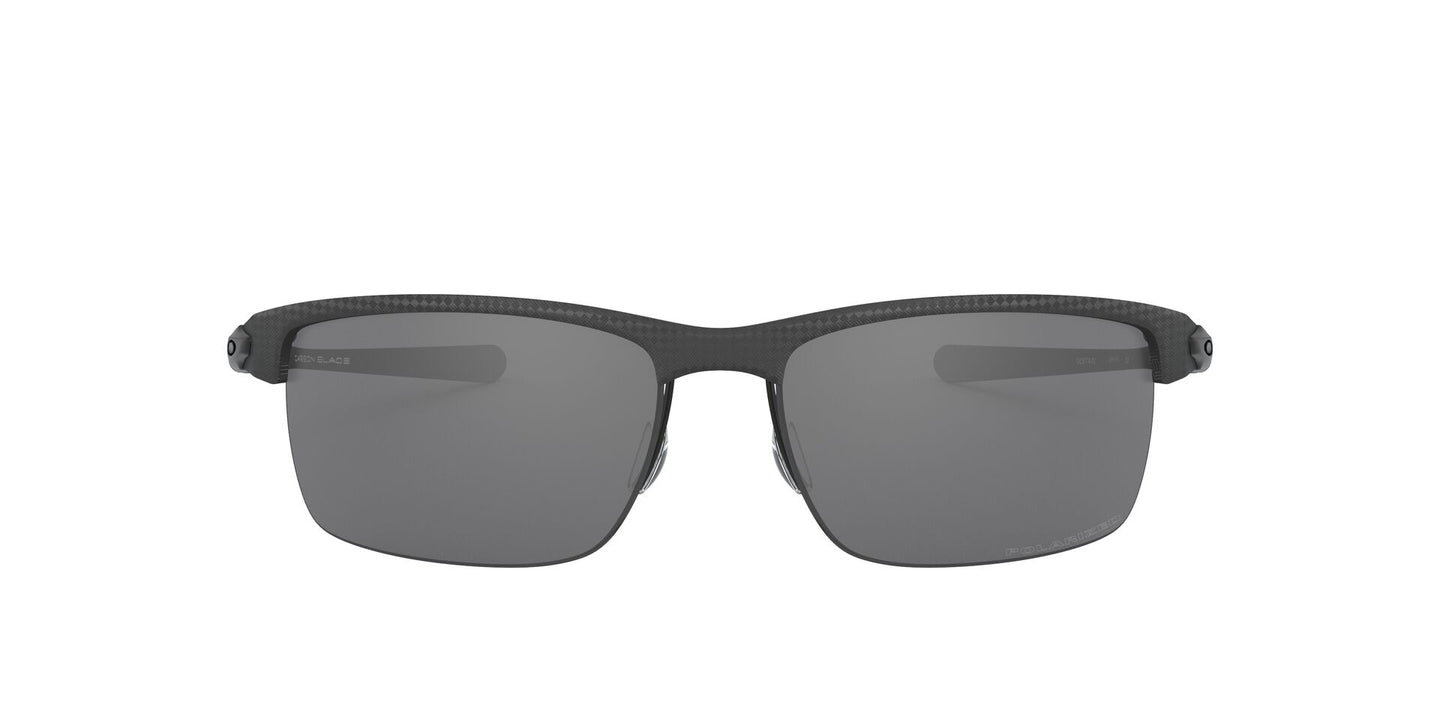 Oakley - Carbon Blade Matte/ Satin Black/Black Iridium Polarized Rectangle Men Sunglasses - 66mm
