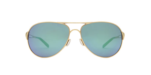 Oakley - Caveat Gold/Green Jade Iridium Aviator Women Sunglasses - 60mm