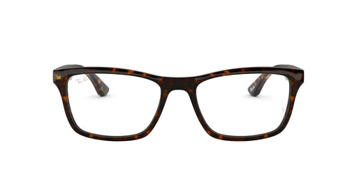 Ray Ban Rx - RX5279 Dark Havana Square Men Eyeglasses - 55mm