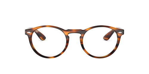 Ray Ban Rx - RX5283 Striped Havana/Demo Lens Phantos Unisex Eyeglasses - 49mm