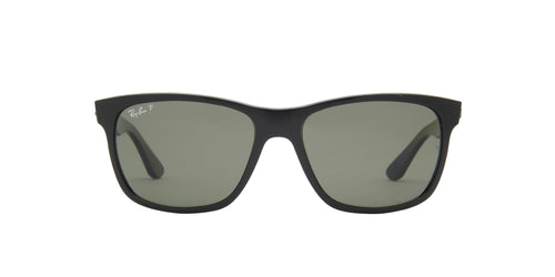 Ray Ban - RB4181 Black/Green Polarized Oval Unisex Sunglasses - 57mm
