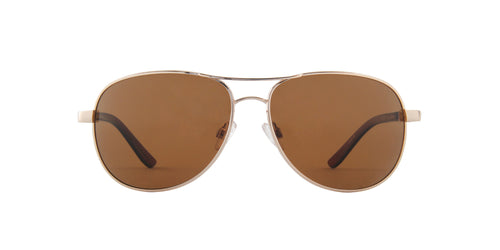 Smith - Suncloud Gold/Brown Polarized Aviator Men Sunglasses - 60mm