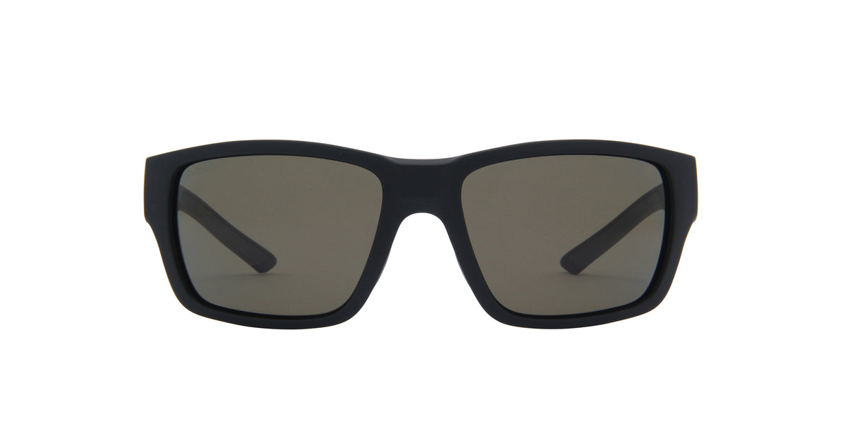 Smith - Outback Matte Black/ChromaPop Polarized Gray Green Square Men Sunglasses - 59mm