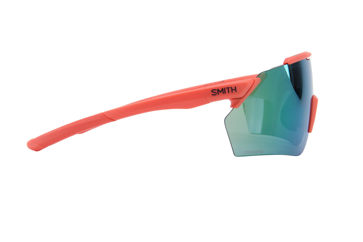 Smith - Ruckus Matte Red Rock/ChromaPop Green Military Shield Unisex Sunglasses - 99mm