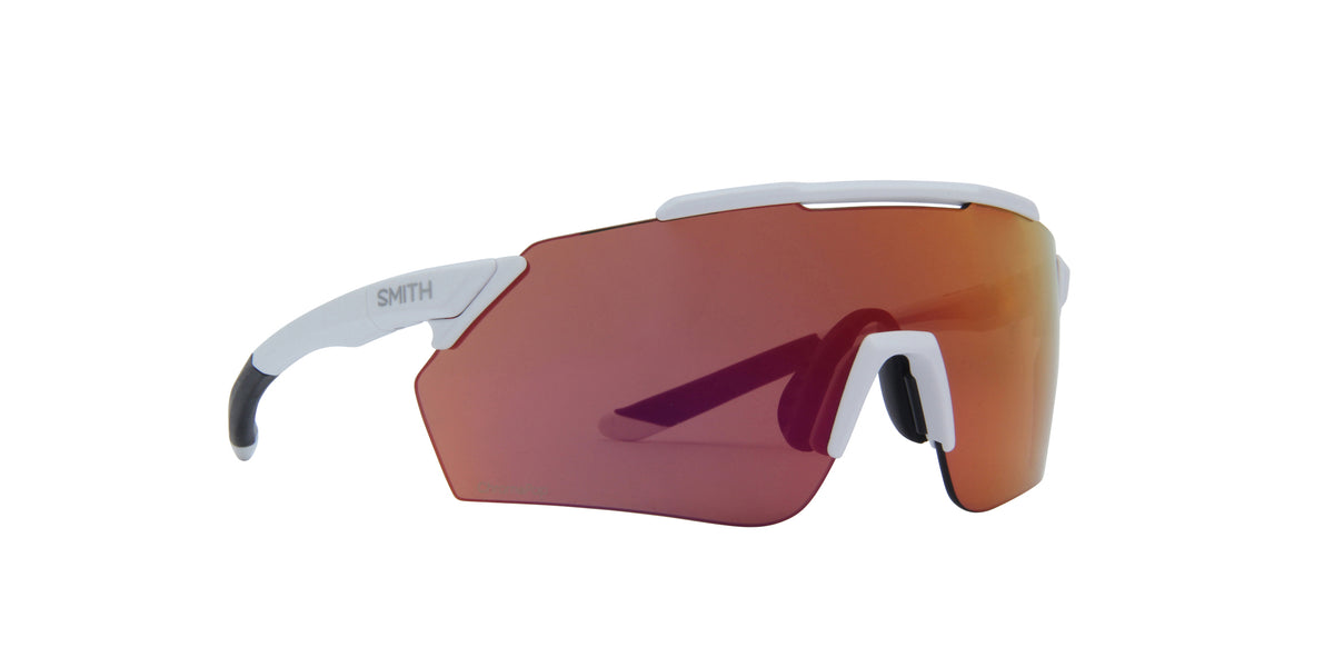 Smith - Ruckus White Crystal Gray/ChromaPop Red Military Shield Unisex Sunglasses - 99mm