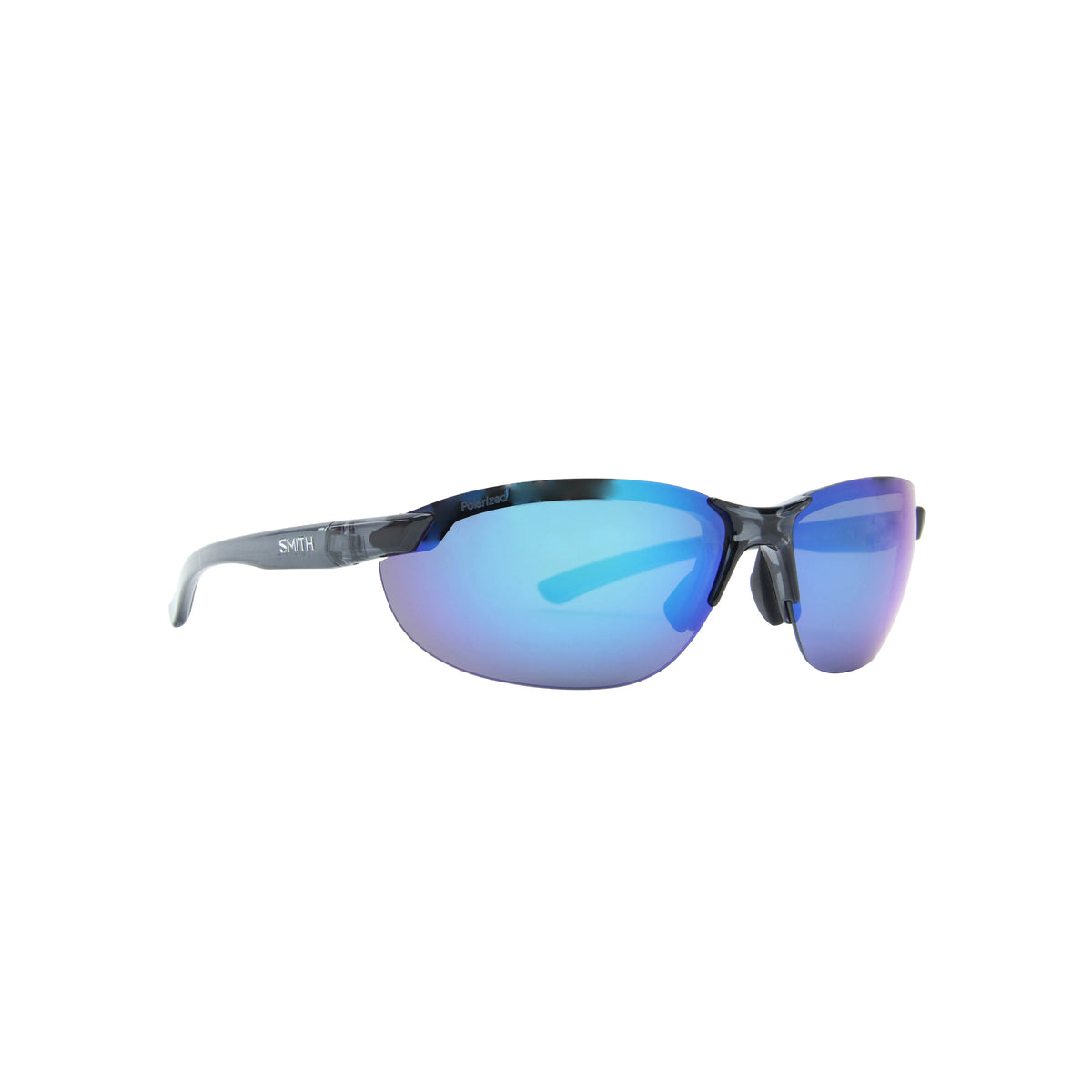 Smith - Parallel 2 Crystal Mediterranean/Polarized Blue Mirror Oval Unisex Sunglasses - 40mm