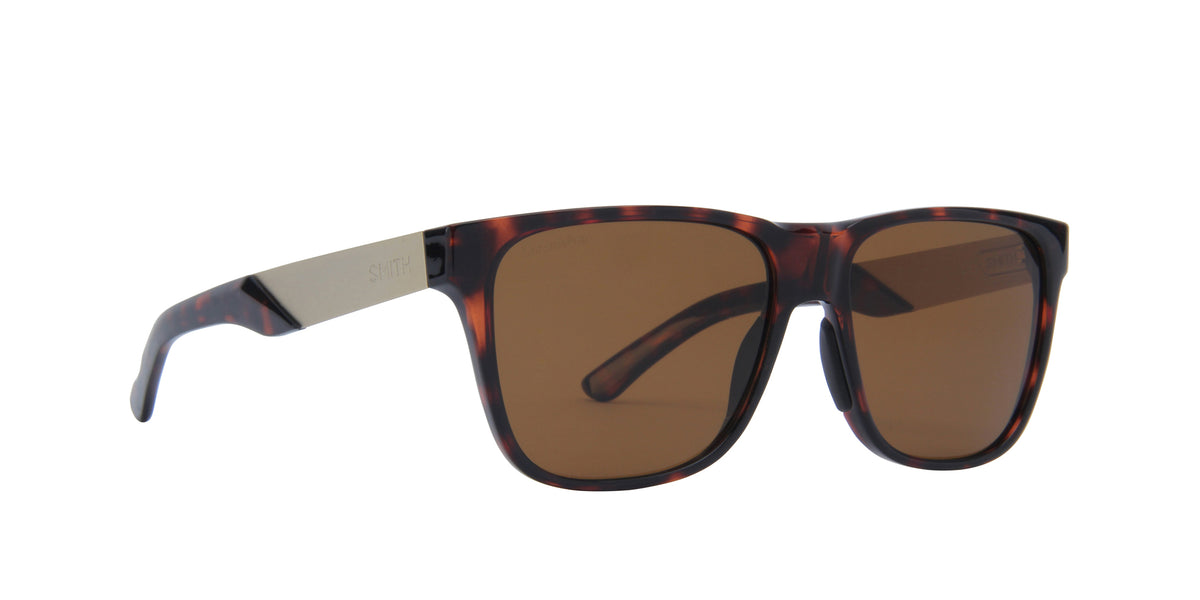 Smith - Lowdown Steel Dark Havana/ChromaPop Polarized Brown Square Men Sunglasses - 56mm