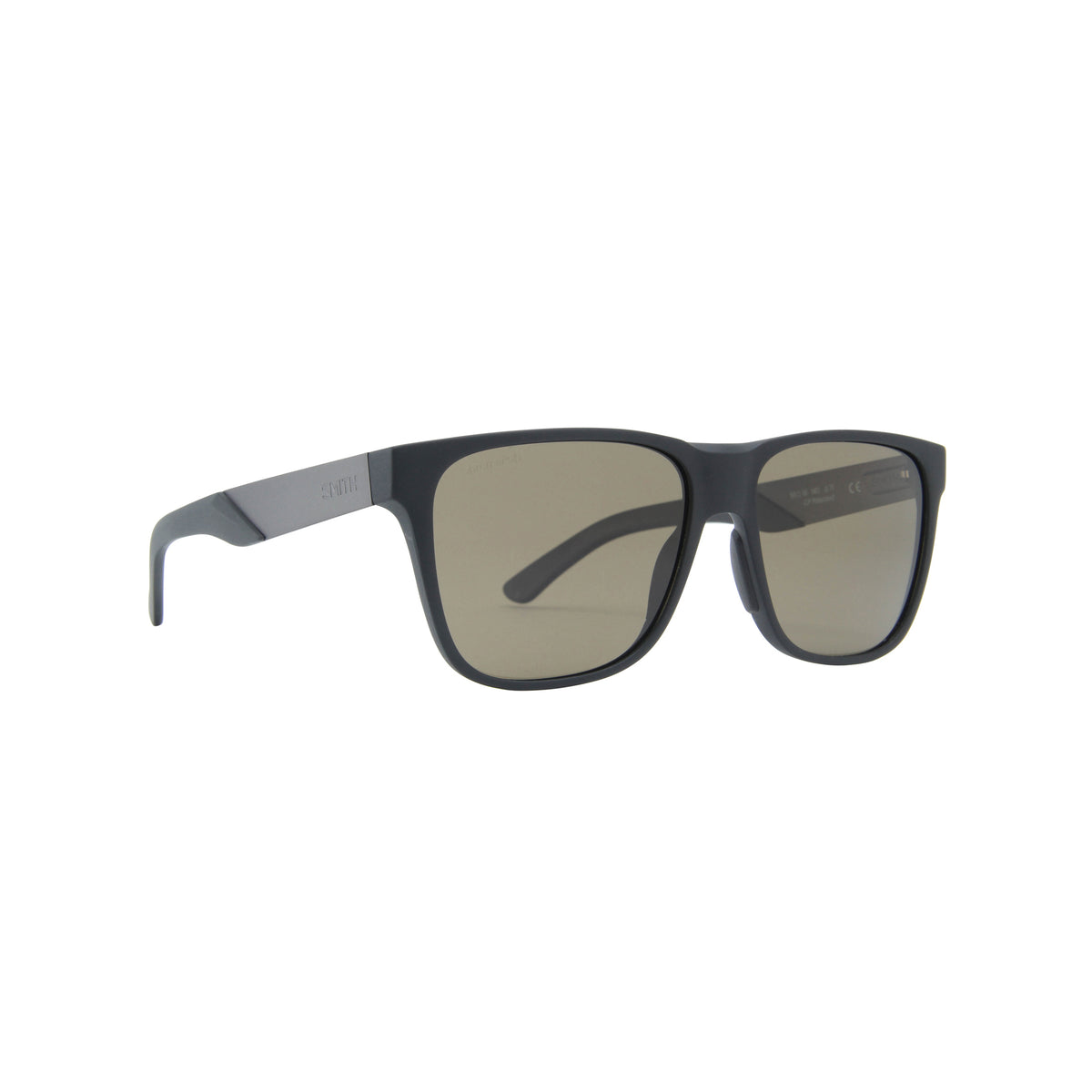Smith - Lowdown Steel Matte Black Ruthenium/ChromaPop Polarized Gray Green Square Men Sunglasses - 56mm
