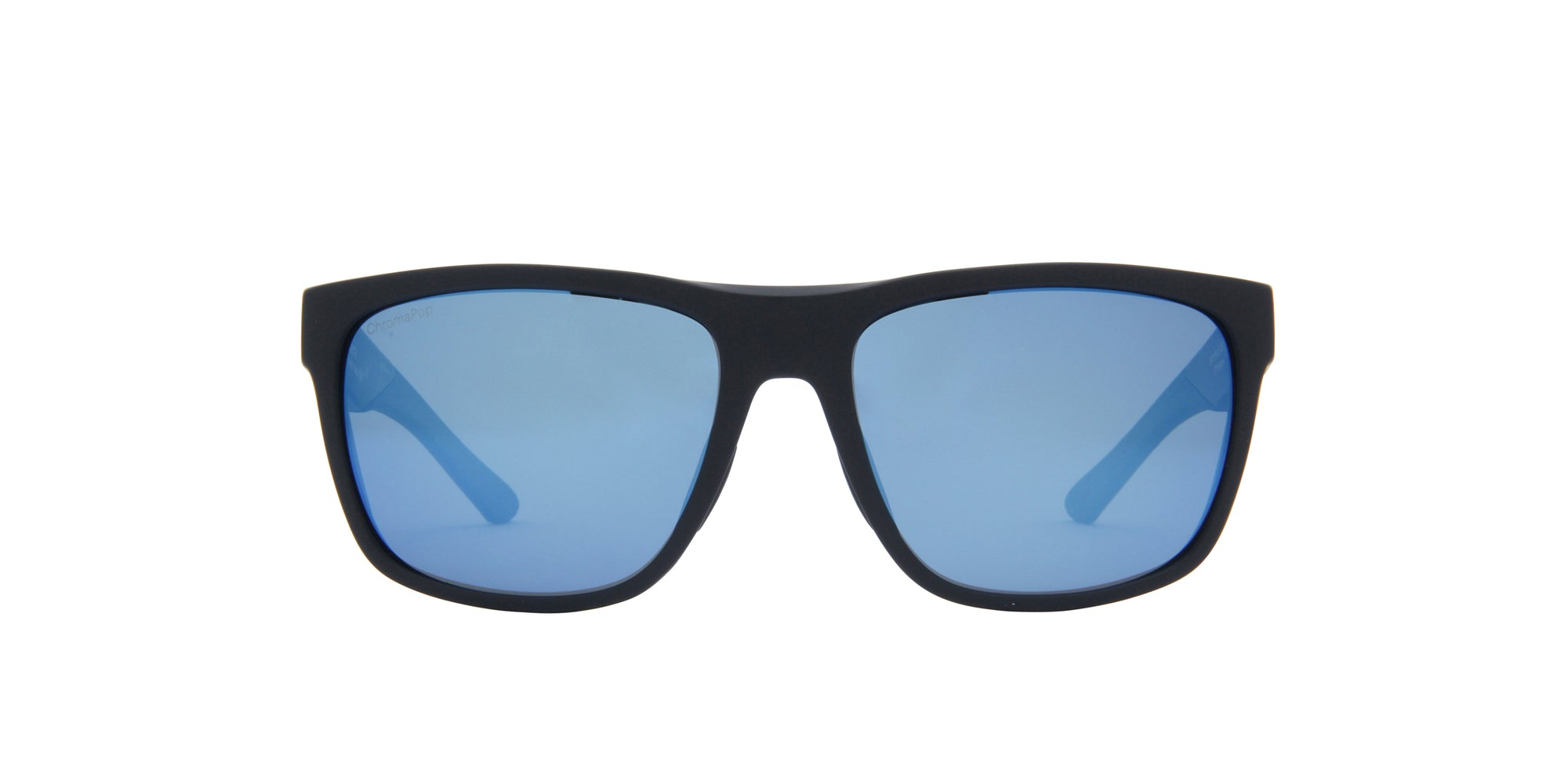 Smith - Barra Matte Black/ChromaPop Polarized Blue Square Men Sunglasses - 59mm