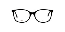 Fendi - FF0387 Black/Clear Oval Women Eyeglasses - 53mm