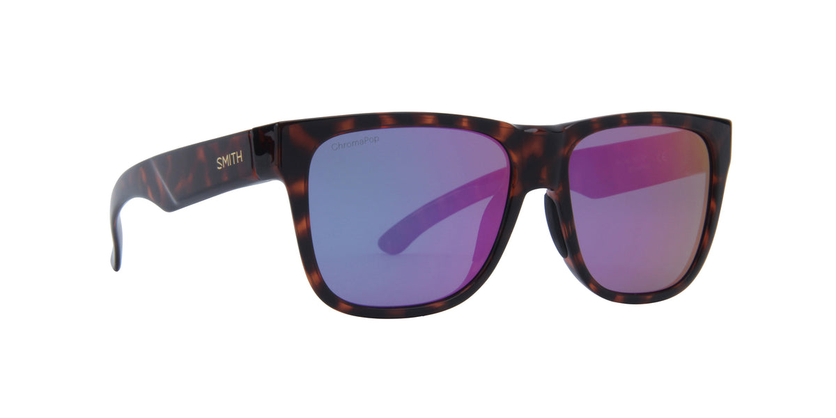 Smith - Lowdown 2 Tortoise/ChromaPop Polarized Violet Mirror Square Unisex Sunglasses - 45mm