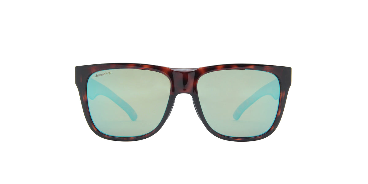 Smith - Lowdown 2 Tortoise/ChromaPop Polarized Opal Mirror Square Unisex Sunglasses - 45mm