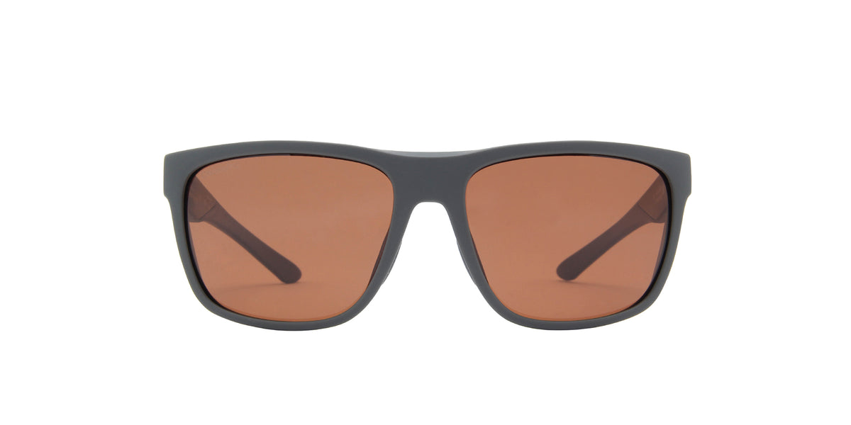 Smith - Barra Matte Gravy/ChromaPop Polarized Copper Square Unisex Sunglasses - 47mm