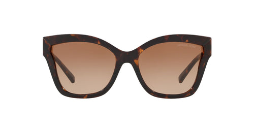 Michael Kors - MK2072 Dark Tortoise Injected Square Women Sunglasses - 56mm