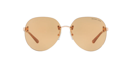 Michael Kors - MK1037 Rose Gold Aviator Women Sunglasses - 60mm