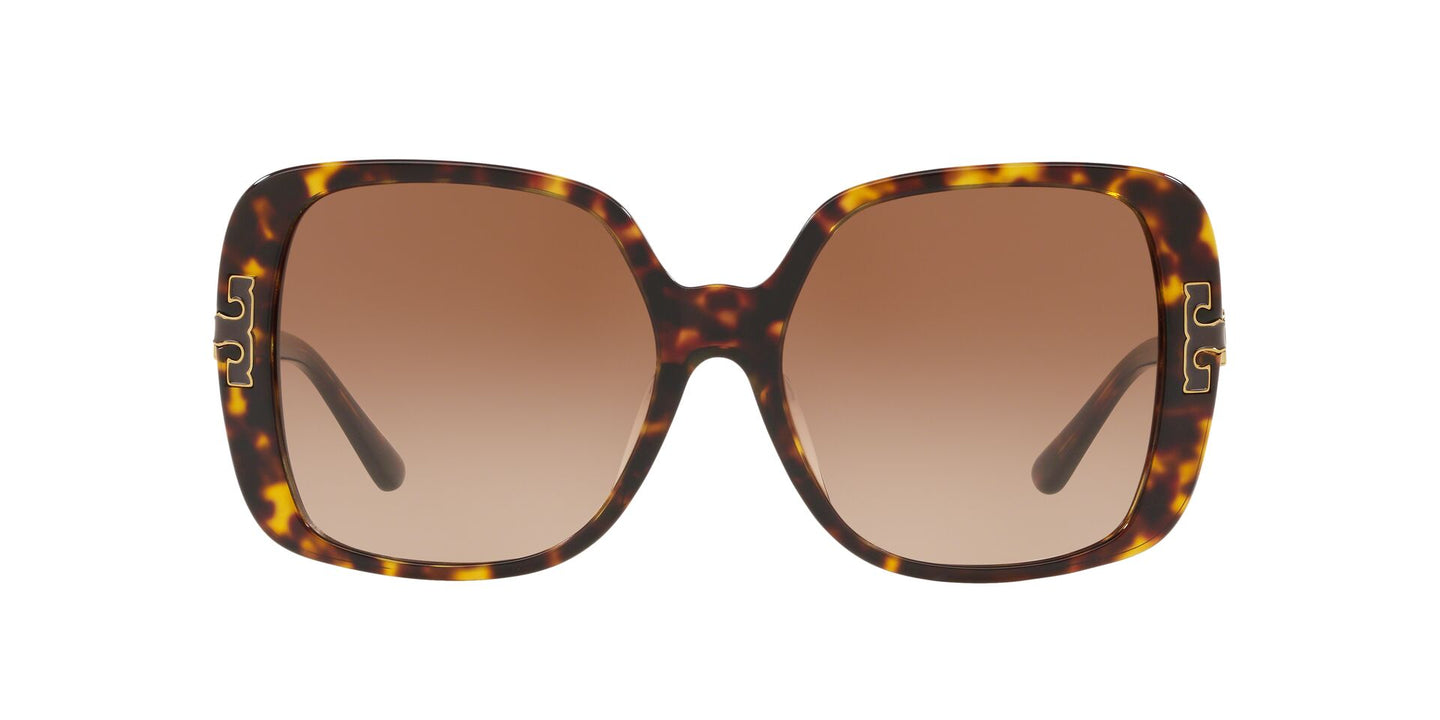 Tory Burch - TY7132U Dark Havana Square Women Sunglasses - 57mm