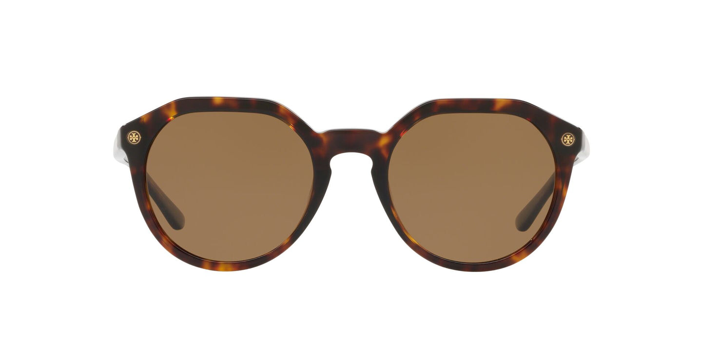 Tory Burch - TY7130 Dark Havana Irregular Women Sunglasses - 52mm