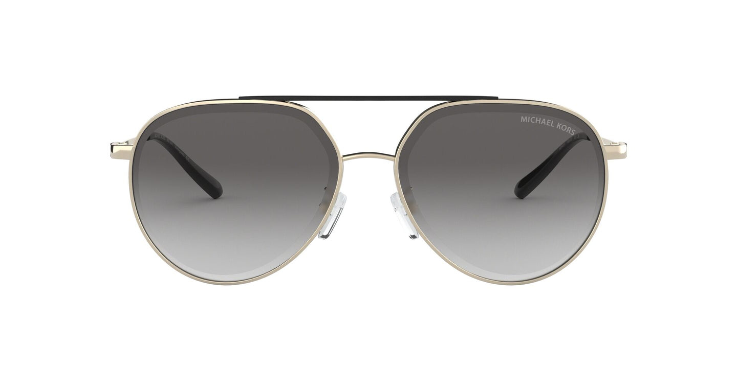 Michael Kors - MK1041 Shiny Pale Gold Aviator Women Sunglasses - 60mm