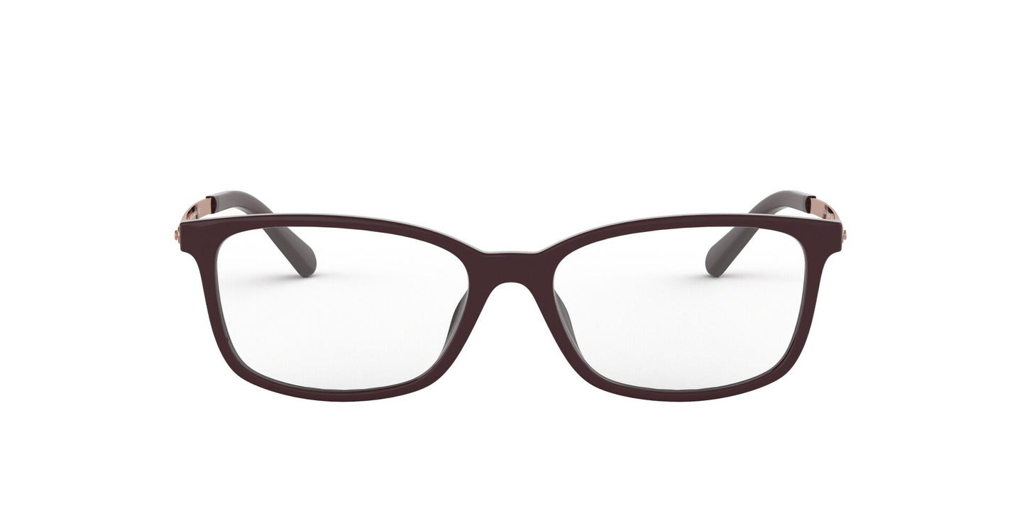 Michael Kors - Telluride Cordovan Solid/Demo Lens Rectangular Women Eyeglasses - 52mm