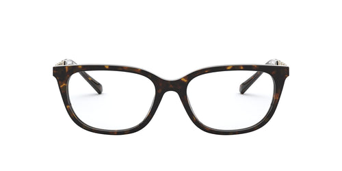 Michael Kors - MK4065F Dark Tortoise Rectangle Women Eyeglasses - 54mm