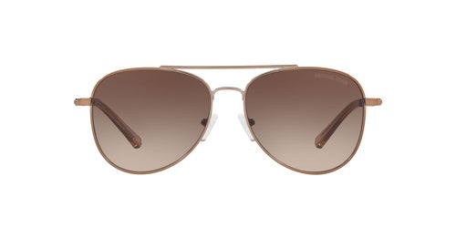 Michael Kors - MK1045 Shiny Mink Brown Aviator Women Sunglasses - 56mm