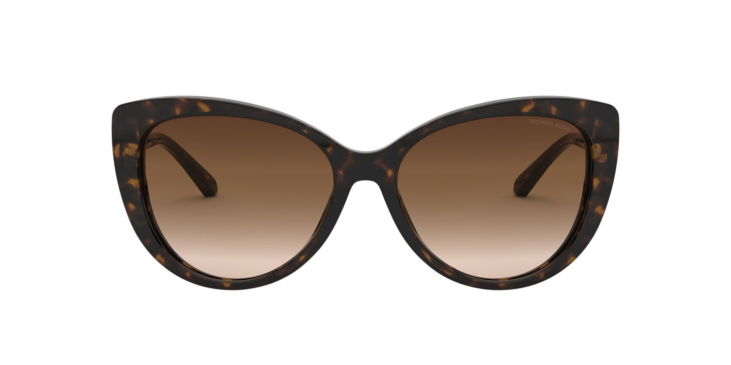 Michael Kors - MK2092 Dark Tortoise Cat Eye Women Sunglasses - 56mm
